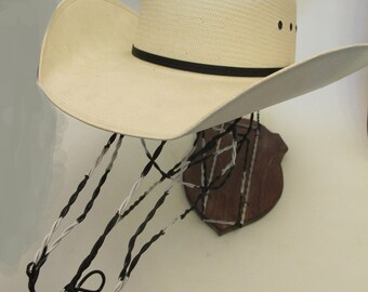 Zebra head hat rack made with recycled wire-ON SALE NOW!!!