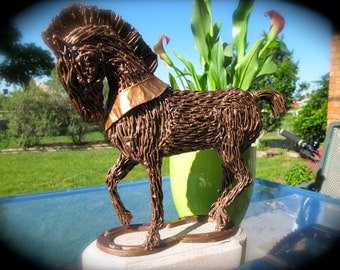 Recycled Metal Wire horse sculpture-When in Rome-ON SALE NOW!