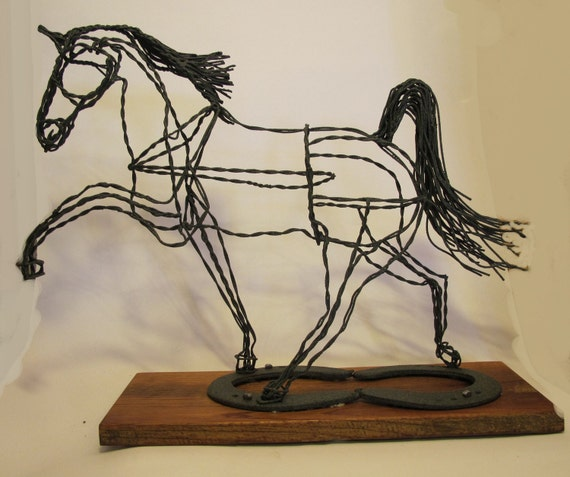 how to make a wire sculpture horse