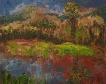Sonoma County Landscape  Original Oil Painting  8 x 8