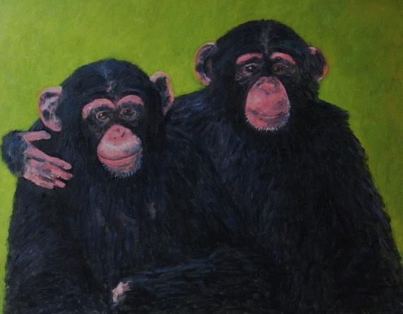 Best Friends  Original Oil Painting  29 x 23
