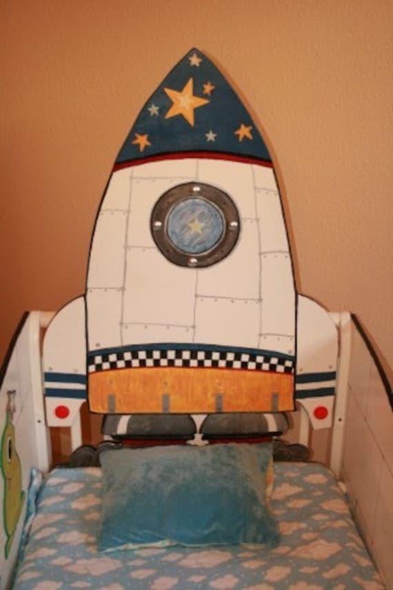 Items similar to Rocket Ship Toddler Bed on Etsy