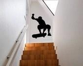 Wall Decal Skateboarding Skater Sports Skateboard Urban Skating Dorm Decor