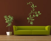 Wall Decal Botanical Floral Nature Flowers Vine Flower Leaves Woodland