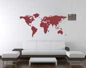 Wall Decal World Map Vacation World Traveler World Map Dorm Decor Wanderlust Wall Decor Geography Countries World Map Office Decor