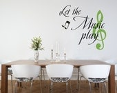 Wall Decal Words Music Notes Musician Expressions Lyrics Typography