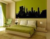 Wall Decal New York City Skyline Cityscape Landmark Vacation Destination Travel Metropolitan