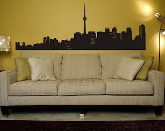 Toronto Skyline, Urban Wall Decals, Urban Wall Art, Apartment Wall Decor, College Apartment Decor, Office Decor, Dorm Decor