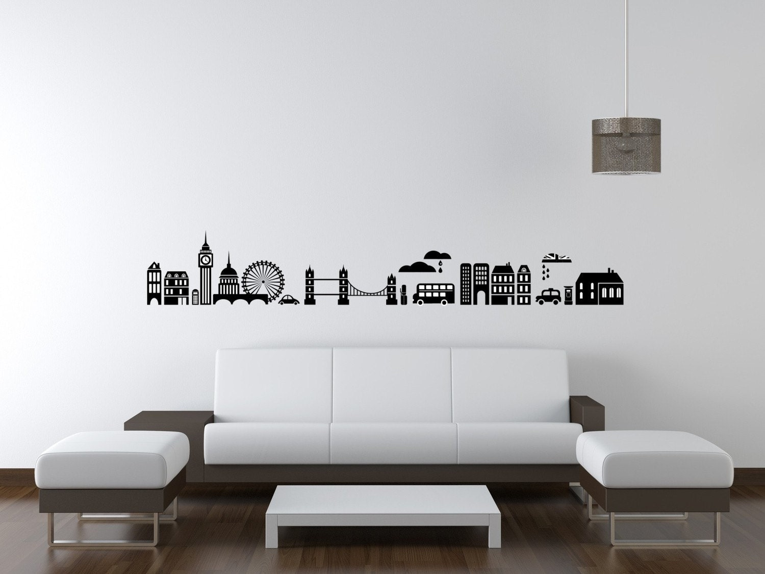 London Wall Stickers London Skyline Wall Decal City Cityscape By  Wallstargraphics