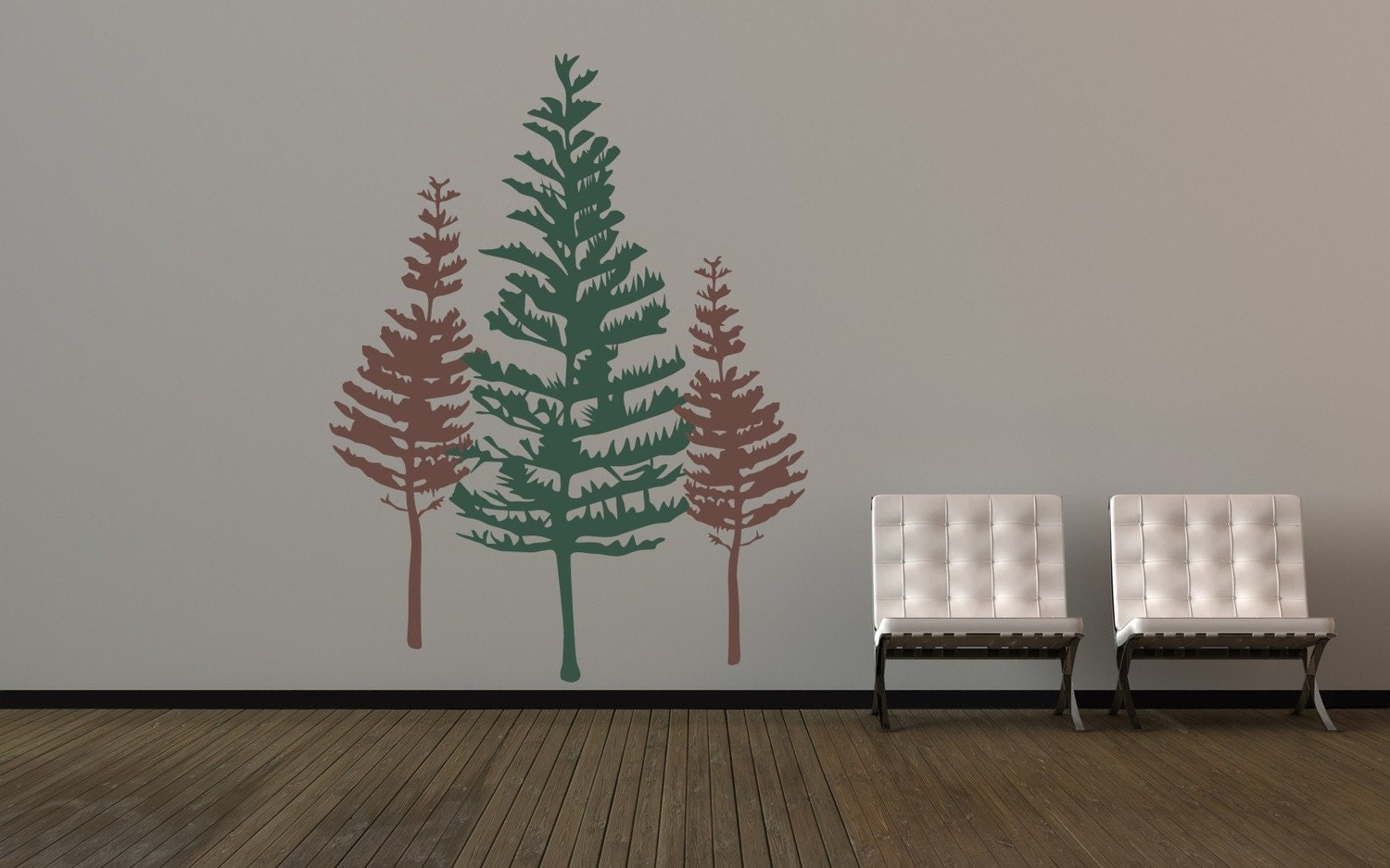 Tree Wall Decal, Rustic Wall Decor, Woodland Wall Decor, Pine Tree Wall Decal