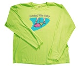 "Driving Miss Daisy.  Ladies Long Sleeve.  Please indicate the size and color in ""Note to magraphics"" box during checkout."