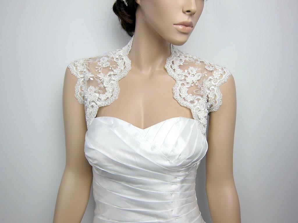 Ivory lace bolero for wedding dress
