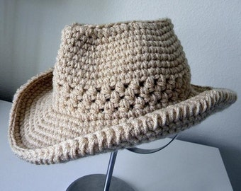 Cowboy Hat Crochet pattern-Permission to sell finished items.Immediate PDF file download.
