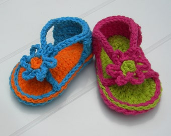 Baby Strapey Sandal Crochet Pattern.Immediate PDF file download.
