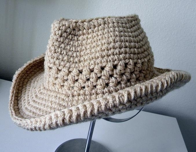 Knitting Pattern For Baby Cowboy Hat : Cowboy Hat Crochet pattern-Permission to sell finished
