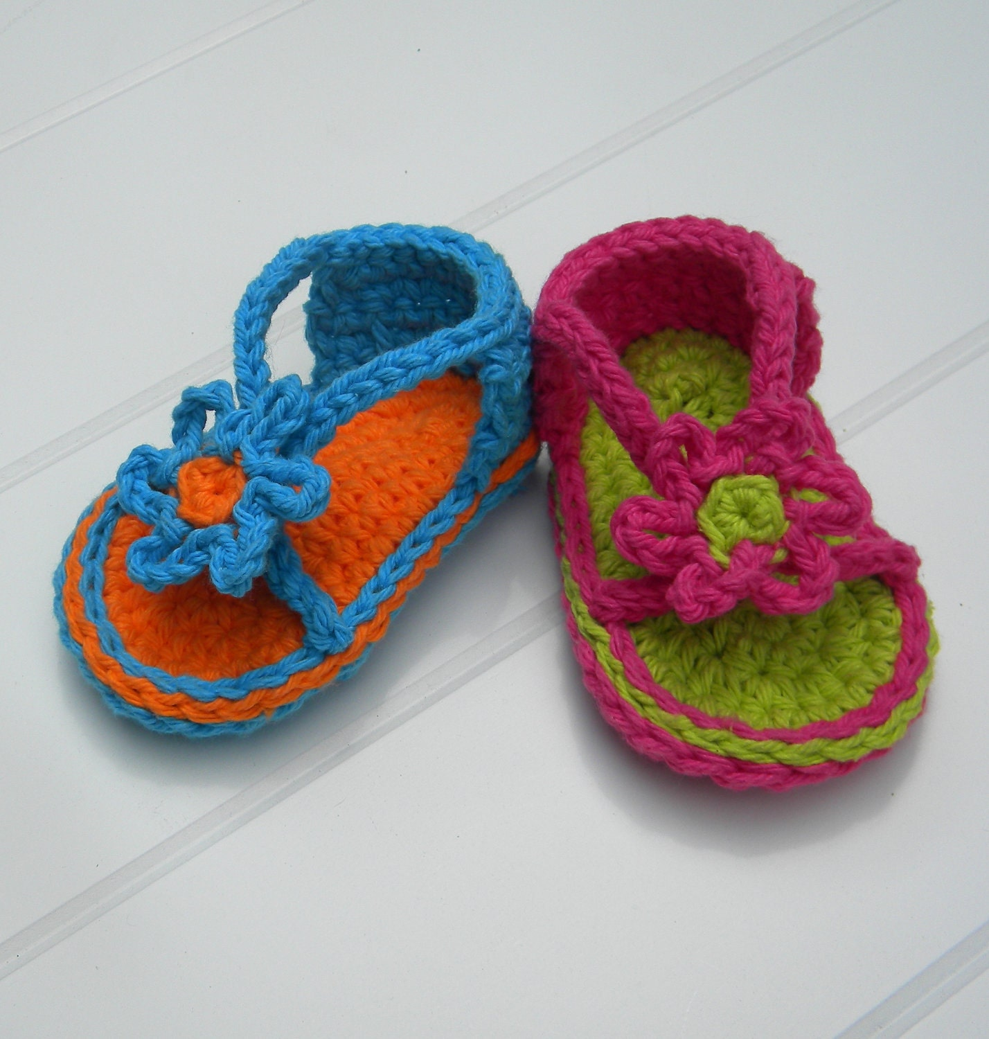 Crochet Baby Toe Sandals Free Pattern : Baby Strapey Sandal Crochet Pattern.Immediate PDF file