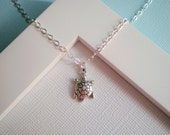 Petite Sterling Silver Sea Turtle Necklace
