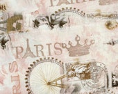 """You cant get any more Paris than this fabulous  muslin fabric ribbon   2.5"""" wide (item 67"""