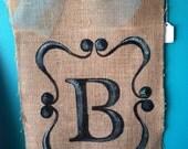 Monogram Burlap Door Hanger