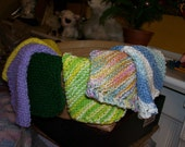 Hand knitted wash clothes