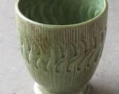Vintage Midcentury Modern Pottery Eames Era Midcentury Japanese Ceramic Pottery Olive Green