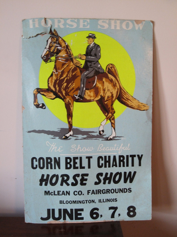 Vintage Horse Show Poster Vintage Horse Poster