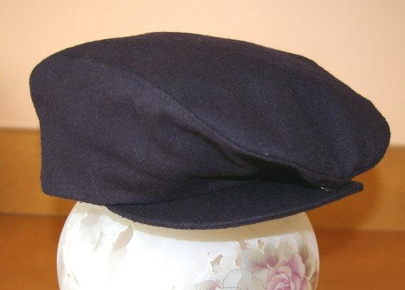 Navy Blue Snap Back Cap/Hat  Size Small Unisex