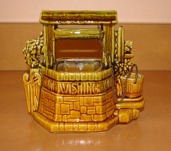 Wishing Well Planter, Pottery, Mc Coy, Vintage 1940's 1960's