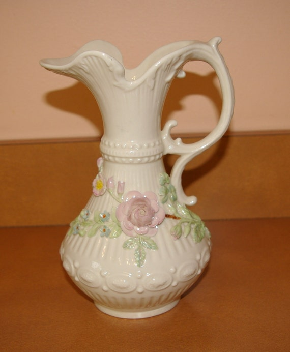 Belleek Porcelain Pitcher Aberdeen Vintage  Late 1960's early 1970's  On SALE this week