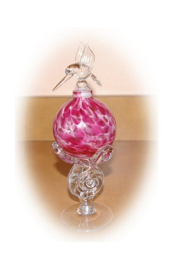 Perfume Bottle Exquisite Hummingbird  Vintage On Holiday SALE