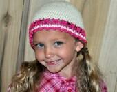 Beautiful crocheted beanie