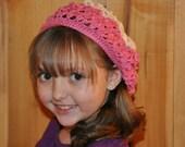 Beautiful crocheted slouchy hat