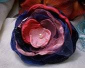 RESERVED for the mochatini.org GIVEAWAY WINNER (Ballerina In Blue Flower Brooch)