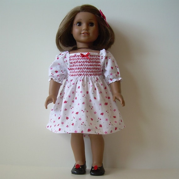 Smocked Dress and Shoes for American Girl and Other 18 Inch Dolls