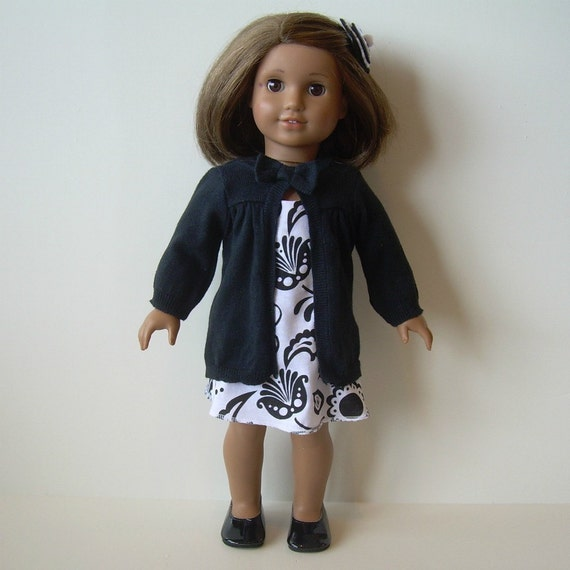 Sundress, Sweater and Shoes for American Girl and Other 18 Inch Dolls