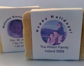 CUSTOM SOAP-  You choose the scent, the label wording, and send us a pic and let us customize your favor, gift, or momento