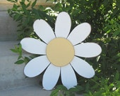 LARGE WHITE DAISY or your custom personalized colors for wall hanging bedroom, girl or home decor