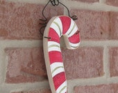 Candy Cane Ornament for Christmas tree, Noel, wall hanger, home decor