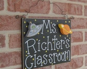 Custom Teacher Personalized Name or Word Sign for children, home, desk, shelf, decor