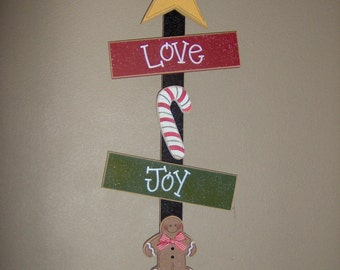 CHRISTMAS LOVE, Joy, and GIVING for Christmas, noel, wall, door, office, and home decor