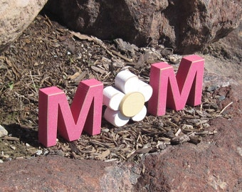 MOM BLOCKS for mom, mothers day gift, shelf, desk and home decor