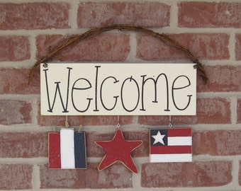 MONTHLY WELCOME SIGN (July) for wall and home decor