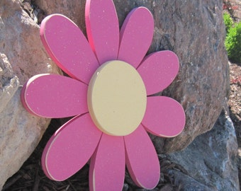 Large HOT PINK DAISY for wall hanging bedroom or home decor