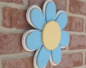 DAISY Light Turquoise LAYERED  for wall hanging, girl bedroom or home decor