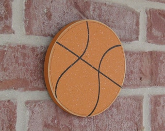 HANGING BASKETBALL for boy, wall, sports theme room, man cave, and bedroom home decor