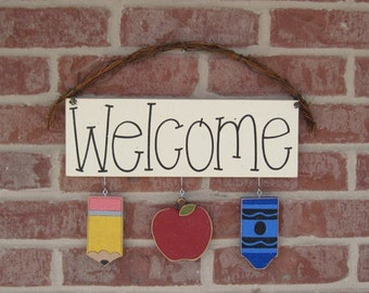FULL YEAR SET of monthly welcome decorations with a sign (Buy a Full Year Set, Get the Welcome sign Free)  for wall, home, gift, door decor