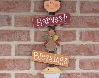 THANKSGIVIING THOUGHTS harvest, blessings, thankful, wall, door, office, and home decor