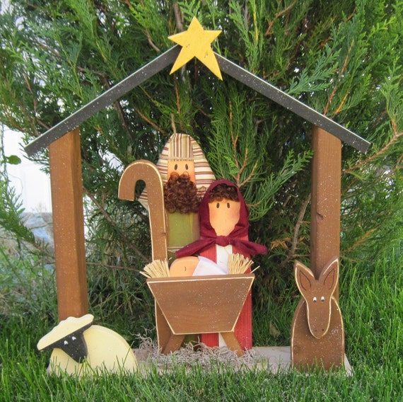Large Nativity For Christmas Holiday Noel Baby Jesus