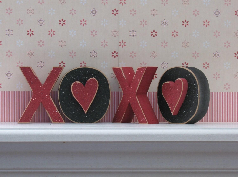 Xoxo Blocks For Valentines And Home Decor