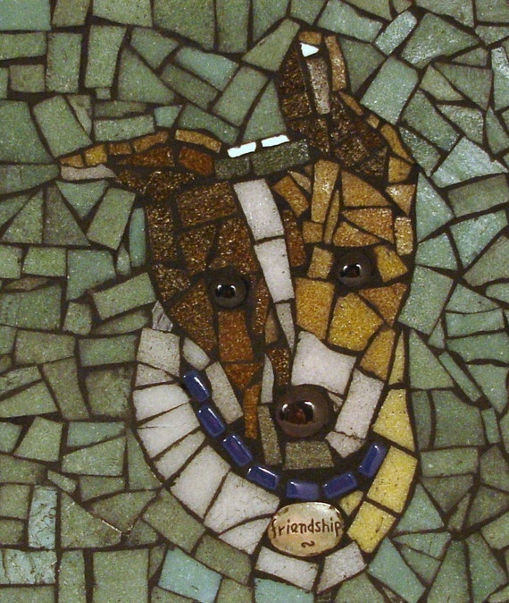 Made to Order -- PET PORTRAIT in mosaic from YOUR  photo